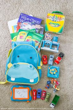 Traveling with a toddler is always an adventures.  We used the items in this travel bag on two flights and during a 6 day vacation to keep our toddler happy and entertained.