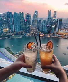 Drinks at Ce La Vi Bar at Marina Bay Sands, Singapore Singapore Travel Tips, Singapore Photos, Singapore Vacation, Singapore Attractions, Hotels And Resorts, Best Hotels, Luxury Hotels, Sands Singapore, Singapore Guide