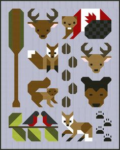 This item is a pdf file that you download and will have to save to your computer before printing. As with all of my designs, this pattern uses traditional piecing methods and step by step, detailed instructions are provided.  This cute woodland themed animal quilt pattern is perfect for making as a gift for hunter or animal lover. Forest animals include bear, deer, squirrel, birds, eagle, beaver and foxes.  This pattern provides instructions for making the complete Forest Friends quilt in…