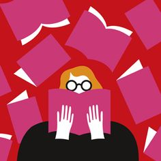 Illustration by Olimpia Zagnoli introducing The New Yorker's new blog, Page-Turner