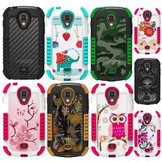 For Samsung Galaxy Light T399 Rugged Hybrid Tough Defender Hard Case Cover +Film #BeyondCell