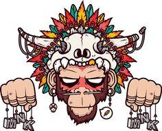 Ape'Ache by Mnk Crew, via Behance