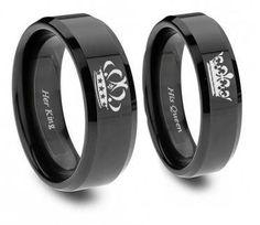 Southern Sisters Designs - King and Queen Ring Set, $39.95 (http://www.southernsistersdesigns.com/king-and-queen-ring-set/)