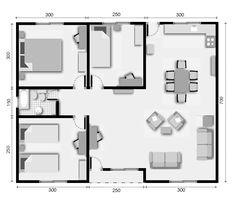 croquis de casas de 60 metros cuadrados - Buscar con Google