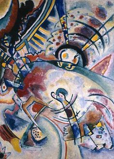 wassily kandinsky biography | Painter Wassily Kandinsky. Painting. Non-objective. 1910 year