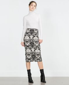 54b29acb6386c PRINTED TUBE SKIRT-View all-Skirts-WOMAN | ZARA Croatia Women's Casual Looks