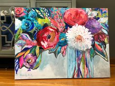 A personal favorite from my Etsy shop https://www.etsy.com/listing/605650445/abstract-floral-painting-original