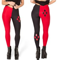 5c7318b223 Walk the streets of Gotham City in these Harley Quinn Leggings - they're  opaque meaning if working out at the gym nobody will see your lady parts.