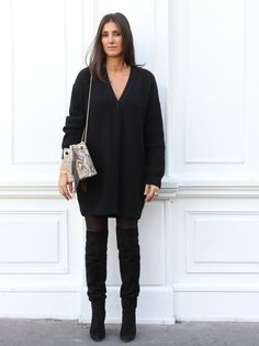 Wool jumper, Bucket Bag Delphine Delafon