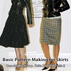 Circles, self-draft panels and tailored skirt styles. #SkirtPatterns in SEPT in #Coolamon. http://www.studiofaro.com/book-introductory-workshops?utm_content=buffer25039&utm_medium=social&utm_source=pinterest.com&utm_campaign=buffer #PatternMakingClasses