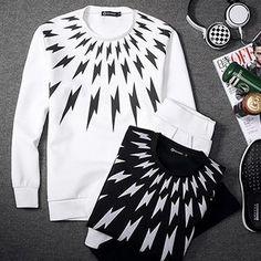 Set: Thunder Printed Sweatshirt + Inset Legging Shorts from #YesStyle <3 Besto YesStyle.com
