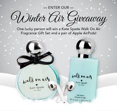 Enter for your chance to win our Winter Air Giveaway! The only thing better than crisp, cool winter air is a gorgeous airy fragrance and some Apple Air Pods! Toys For Us, Beauty Giveaway, Glitter Lip Gloss, Perfume, Air Pods, Smell Good, Body Lotion, Face And Body, Place Card Holders