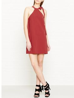 KEEPSAKE Two Minds Tie Neck Mini Dress - RustSize & Fit True to size - order your usual sizeRelaxed fitFinishes above the kneeModel is 5'10