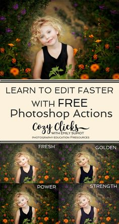 A photography tip for faster editing is to try out Photoshop actions.  New photographers can really learn from the results.  Try out your free Photoshop action pack here!