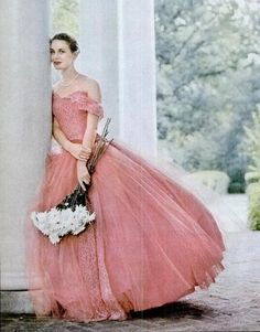 Perfect pink ball gown, ca. 1959- I need a reason to dress like this