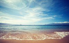 40 Beautiful Wallpapers - ocean beach sand sky wallpaper. Follow us www.pinterest.com/webneel