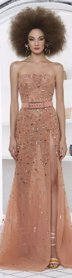 Spring 2019 RTW Georges Hobeika - The Best Fashion İdeas For Ladies Emo Dresses, Fashion Dresses, Party Dresses, Evening Party Gowns, Evening Dresses, Western Gown, African Traditional Dresses, Coral, Georges Hobeika