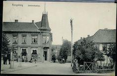 Buskerud fylke Kongsberg Stationsbakken. Eneberettiget J. H. Küenholdt A/S Kristiania. Brukt 1914