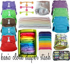 """""""basic cloth diaper stash"""" by addielore on Polyvore"""