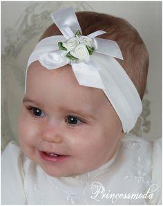 EM-9 Stirnband für kleine Prinzessinen! In Champagner! - Princessmoda - Alles für Taufe Kommunion und festliche Anlässe