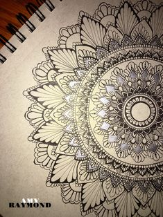 #mandala #sketch by Amy Raymond 3/5/17. #pigma #bw #doodle #inkart #mixedmedia #art #artismytherapist #zen #draw #tangle #copic #micron #silver #gellyroll #gray_paper #sketchbook #progress_shot