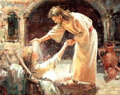 International Masters - Jesus Healing the Sick - Oil by Buck McCain