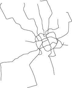 Scaled maps of subways throughout the world