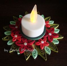 Christmas candle holder: