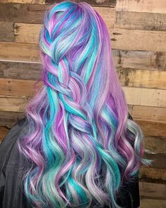 Pretty Hair Color, Hot Hair Colors, Beautiful Hair Color, Bright Hair Colors, Creative Hairstyles, Fancy Hairstyles, Goth Hairstyles, Pastel Rainbow Hair, Unicorn Hair Color