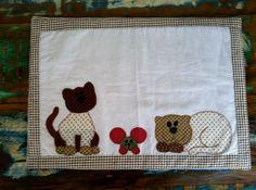 jogo americano gato  patchwork
