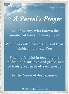 How do you lead your children to Christ? That is one of the biggest questions - and heartfelt prayers - a Christian parent has for our children. Leading Your Children to Jesus - Matthew L Jacobson