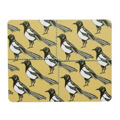Martha And Hepsie Mischievous Magpie Placemats - Set of 4
