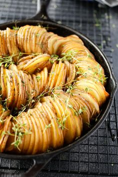 Crispy, buttery and aromatic with fresh herbs, these potatoes are the perfect partner for everything from holiday turkeys to grilled meats and roasted fish