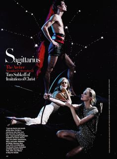 """It's All in the Stars"": Karl Lagerfeld Shoots Fashion Designers and Models by Zodiac Sign for US Harper's Bazaar Sagittarius"