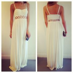 white maxi dress. Love.