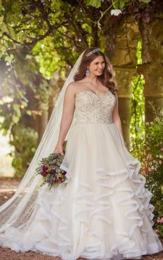 Essense of Australia Wedding Dresses - Search our photo gallery for pictures of wedding dresses by Essense of Australia. Find the perfect dress with recent Essense of Australia photos. Wedding Dress Organza, Used Wedding Dresses, Wedding Dresses Plus Size, Plus Size Wedding, Perfect Wedding Dress, Designer Wedding Dresses, Bridal Dresses, Wedding Gowns, Trendy Wedding