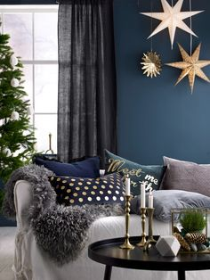 My favorites and trend tension on Christmas 2015 - Decoration For Home Hm Home, Seasonal Decor, Holiday Decor, Christmas Interiors, Noel Christmas, Xmas Decorations, Christmas Inspiration, Home Furniture, Room Decor