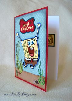 images of cricut machine card ideas | Cricut's SpongeBob SquarePants Cartridge makes for a Great Birthday ...