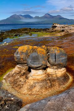 Laig Bay . Sandstone Concretions. Isle of Eigg. Scottish Highlands and Islands; photo by Barbara R. Jones