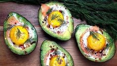 These baked eggs in avocado with smoked salmon are packed with healthy fats for a filling breakfast or snack. Avocado Boats, Avocado Hummus, Baked Avocado, Salmon Avocado, Easy Clean Eating Recipes, Healthy Eating, Healthy Fats, Simple Meals, Low Carb Avocado