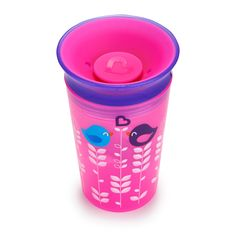 Miracle 360 Deco Sippy Cup - 9oz (Pink Bird)