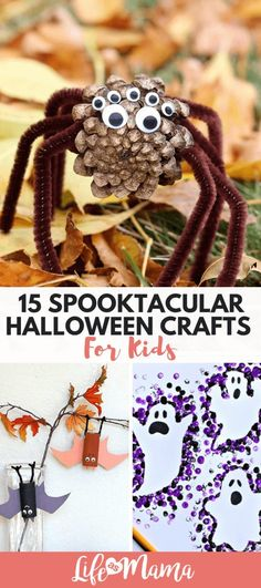 15 Spooktacular Halloween Crafts For Kids These are super fun! 15 Spooktacular Halloween Crafts For Kids These are super fun! Halloween Crafts For Toddlers, Fete Halloween, Halloween Crafts For Kids, Diy Arts And Crafts, Toddler Crafts, Preschool Crafts, Diy Crafts For Kids, Holiday Crafts, Fun Crafts
