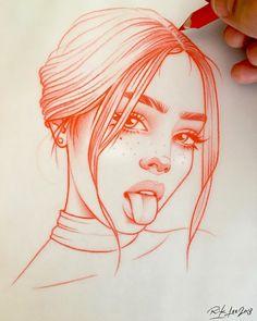 Schlag des Herzens: die Zeichnungen in Rot von Rik Lee - Zeichnungen - Drawing Eye Drawing, Sketches, Easy Drawings, Drawing People, Sketch Book, Art Drawings Sketches, Drawing Sketches, Art, Art Sketches