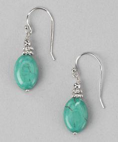 Turquoise Bali Bead Earrings