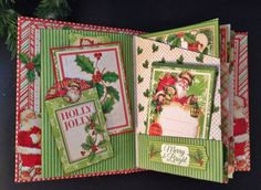 annes papercreations: Graphic 45 Christmas mini album,pillow box ornament,to/ from tags and post it note holder