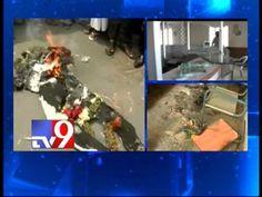 Protesters burn Kanumuri Bapi Raju effigy