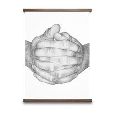 Folded Hands Illustration