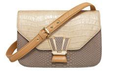 Italian embossed patent leather colorblock 'Courtship' bag--Hendri Bendel