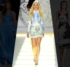 Versace 2012 Summer Show. We love this seahorse and starfish dress x
