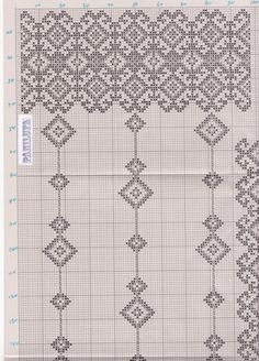 Gallery.ru / Фото #126 - Без названия - 753159 Hungarian Embroidery, Folk Embroidery, Cross Stitch Embroidery, Embroidery Patterns, Cross Stitch Patterns, Knitting Designs, Knitting Patterns, Crochet Patterns, Crochet Curtains